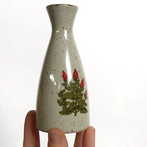 Small Vintage Bus Vase with Orange Flowers